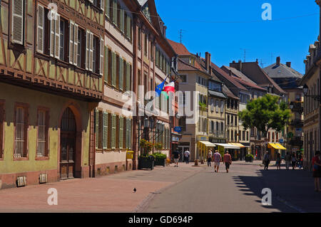 Colmar, maisons à colombages, Vieille Ville, Alsace, Route des vins, vins d'Alsace, Haut-Rhin, France, Europe, Banque D'Images