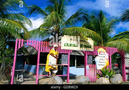 Restaurant sur l'île de Virgin Gorda, îles Vierges britanniques, les Caraïbes Banque D'Images