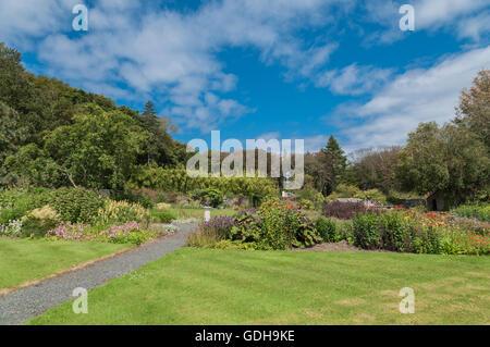 Jardins maison Achamore île de Gigha ARGYLL & BUTE Ecosse Banque D'Images