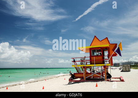Secours sur South Beach, 24e Rue conçu par William Lane - Miami, Floride Banque D'Images