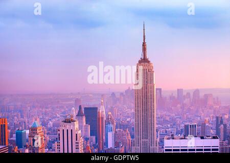 Manhattan à New York City Banque D'Images