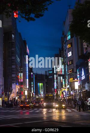 Shibuya illuminées, région du Kanto, Tokyo, Japon Banque D'Images