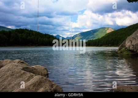 Vue sur un lac en Espagne Banque D'Images