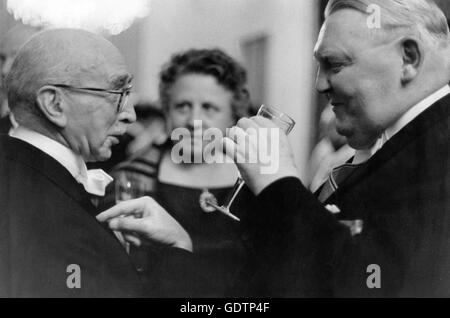 Fritz Schäffer et Ludwig Erhard