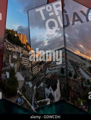 CONCEPT: TOURISME - Torquay Devon, Grande Bretagne Banque D'Images