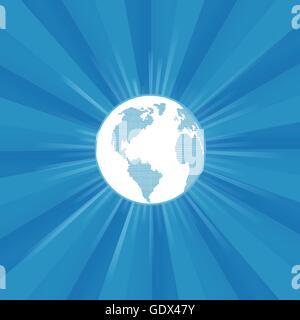 Globe terrestre moderne vecteur burst background pour poster Banque D'Images