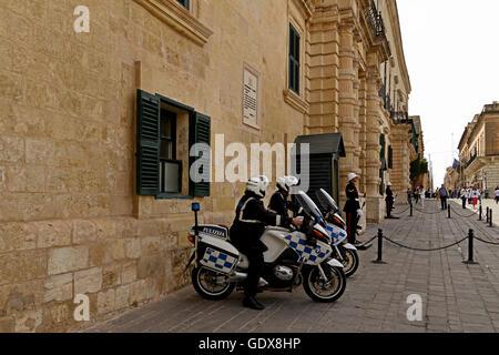 Les gardes du Palais - La Valette, Malte Banque D'Images