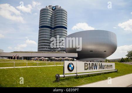 Géographie / voyage, Allemagne, Bavaria, Munich, le musée BMW, BMW de plusieurs étages, construction: 1968-1972 Banque D'Images