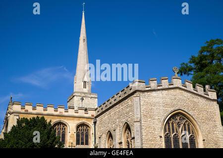 Vue de l'église Holy Trinity situé sur Market Street à Cambridge, Royaume-Uni. Banque D'Images