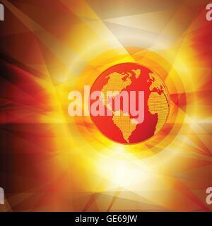 Le réchauffement de la sex globe concept vector abstract background pour poster Banque D'Images