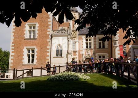 Vue sur le Clos Lucé, Léonard de Vinci, la dernière maison à Amboise, France, 26 juin 2008. Banque D'Images