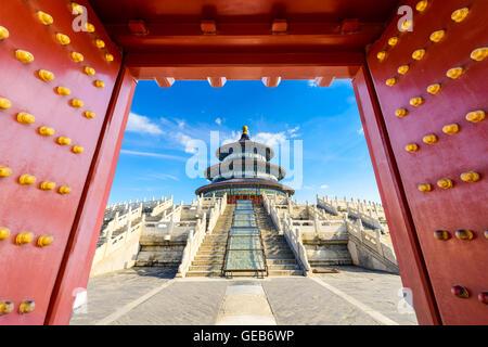 Temple du Ciel à Beijing, Chine. Banque D'Images