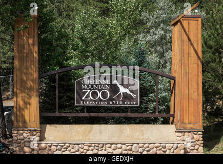 Le zoo de Cheyenne Mountain, Colorado Springs, Colorado, États-Unis Banque D'Images
