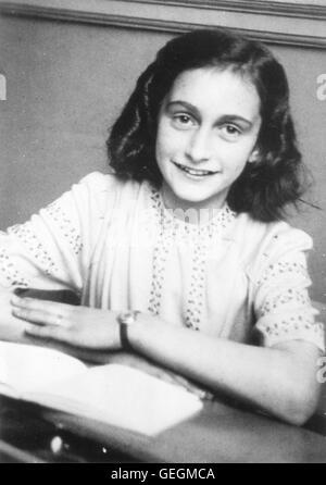 Anne Frank (1929-1945), Aufnahme vers 1942, 1940, 1942, le journal d'Anne Frank, Das Tagebuch der Anne Frank, Néerlandais, Banque D'Images