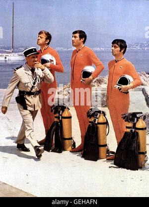 Louis de Funes *** *** 1968 légende locale, le Gendarme se marie, Le, Balduin, Der Heiratsmuffel Banque D'Images