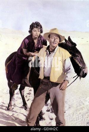 Sophia Loren, John Wayne Dita (Sophia Loren) schliesst sich einer von expédition Joe (John Wayne) und Paul Bonnard Banque D'Images