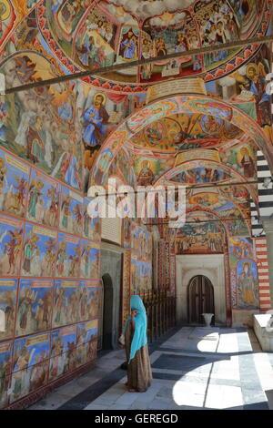 Fresques de monastère de Rila, Bulgarie, Rila Banque D'Images