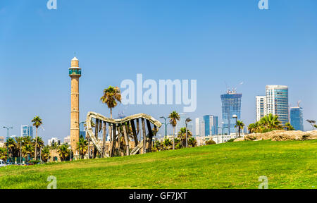 Vue sur la Méditerranée à bord de Tel Aviv Banque D'Images