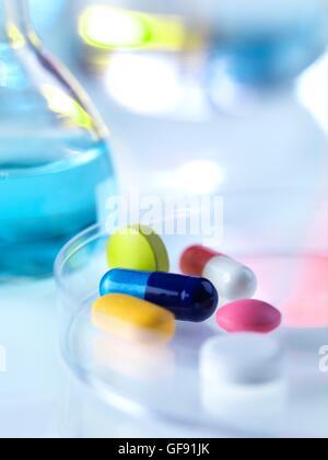 Parution de la propriété. Pharmaceutical Research, conceptual image. Banque D'Images