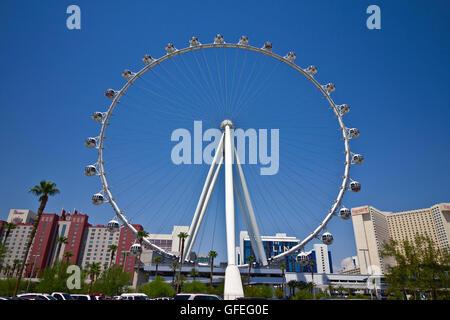 Las Vegas - Circa Juillet 2016: High Roller Grande Roue au LINQ Hôtel J Banque D'Images