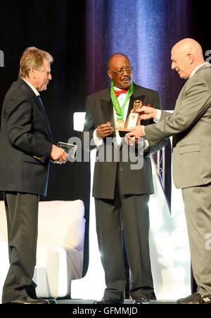 Las Vegas, Nevada, USA. 30 juillet, 2016. Thell Torrence honoré lors de la 4e Conférence annuelle Nevada Boxing Banque D'Images