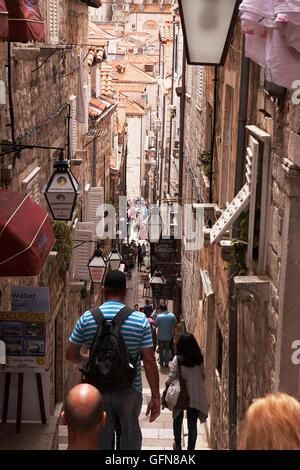 Entrer dans la vieille ville de Dubrovnik Banque D'Images