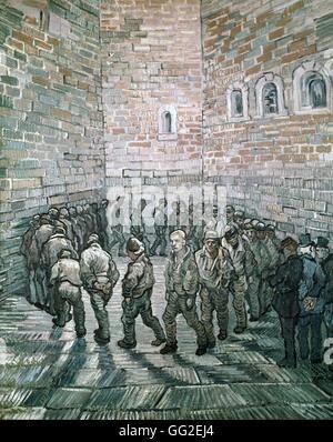 Vincent van Gogh l'école Néerlandaise ronde des prisonniers ou détenus de l'exercice 1890 Huile sur toile (80 x Banque D'Images