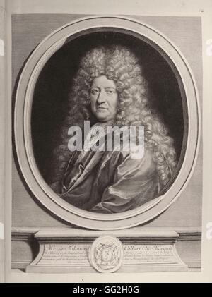 Edouard Colbert, (1628 -1699), cousin de Jean-Baptiste Colbert, marquis de Villacerf et Payns, homme d'État sous Banque D'Images