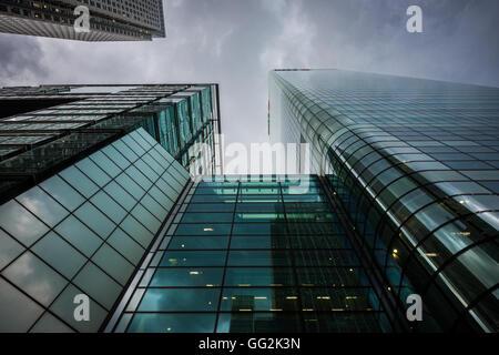 Les immeubles de bureaux à Canary Wharf, Tower Hamlets, East London, Londres, Royaume-Uni Banque D'Images