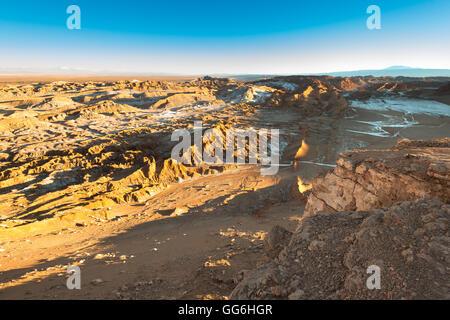 Avis de Valle de la Luna (vallée de la lune), la Cordillère de la Sal, Désert d'Atacama, Chili Banque D'Images