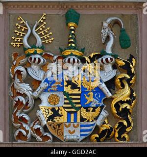 Géographie / voyage, Allemagne, Thuringe, Gotha, hôtel de ville historique au marché principal, construit 1567, Banque D'Images