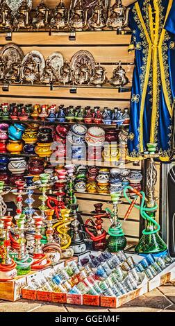 Un cadeau de blocage en place Jamaa el Fna, la place principale et de la place du marché dans le centre de Marrakech, Banque D'Images