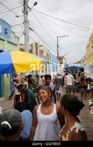 Rue sur le marché, marché hebdomadaire le lundi et le vendredi dans le centre d'Andarai, frontière orientale de Banque D'Images