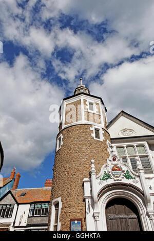 Guildhall, Bridge Street, Lyme Regis, dans le Dorset, Angleterre, Grande-Bretagne Banque D'Images