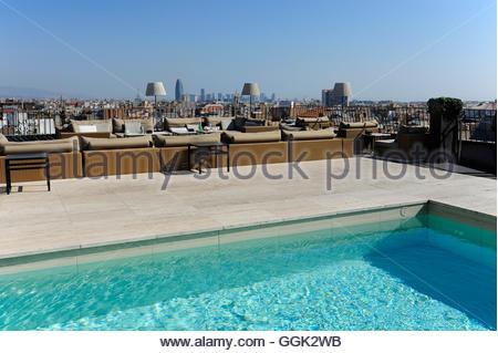 La Piscine  LHtel W Barcelone Espagne Banque DImages Photo