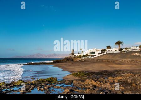 Plage, Playa del Barranquillo, Puerto del Carmen, Lanzarote, îles Canaries, Espagne