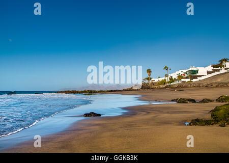 Plage de Playa del Barranquillo, Puerto del Carmen, Lanzarote, îles Canaries, Espagne