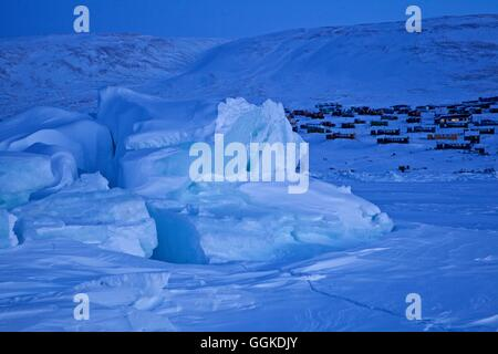 Formations de glace dans l'océan à Qaanaaq, le nord-ouest du Groenland, Greenland Banque D'Images