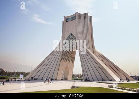 La tour Azadi, ou la tour de la liberté de Téhéran, Iran. Banque D'Images