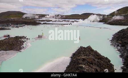 Spa géothermal Blue Lagoon en Islande. Banque D'Images