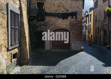 Les rues et les coins de la ville toscane de la colline. Santa Fiora, Grosseto. Banque D'Images