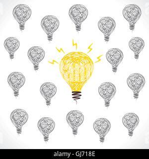 Nouvelle idée de concept design lampe centre vector Banque D'Images