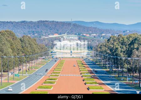 Le parlement de l'Australie à Canberra Banque D'Images