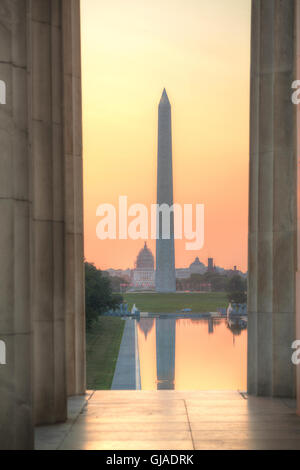 Washington monument mémorial à Washington, DC le matin