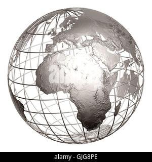 globe Metal Banque D'Images