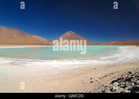 Amérique du Sud lagon turquoise Banque D'Images
