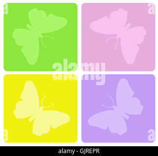 Butterfly decorative sign Banque D'Images