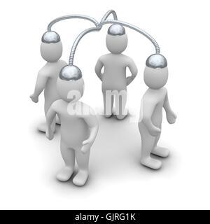Connexion de communication connecté Banque D'Images