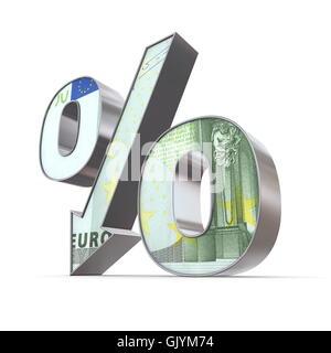 Devise euro vers le bas Banque D'Images