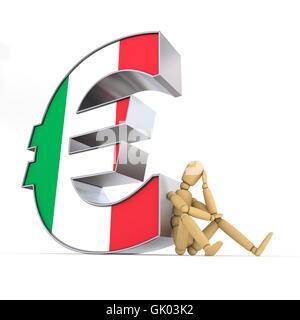 Devise euro flag Banque D'Images